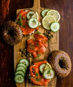 Smoked Salmon Breakfast Scene