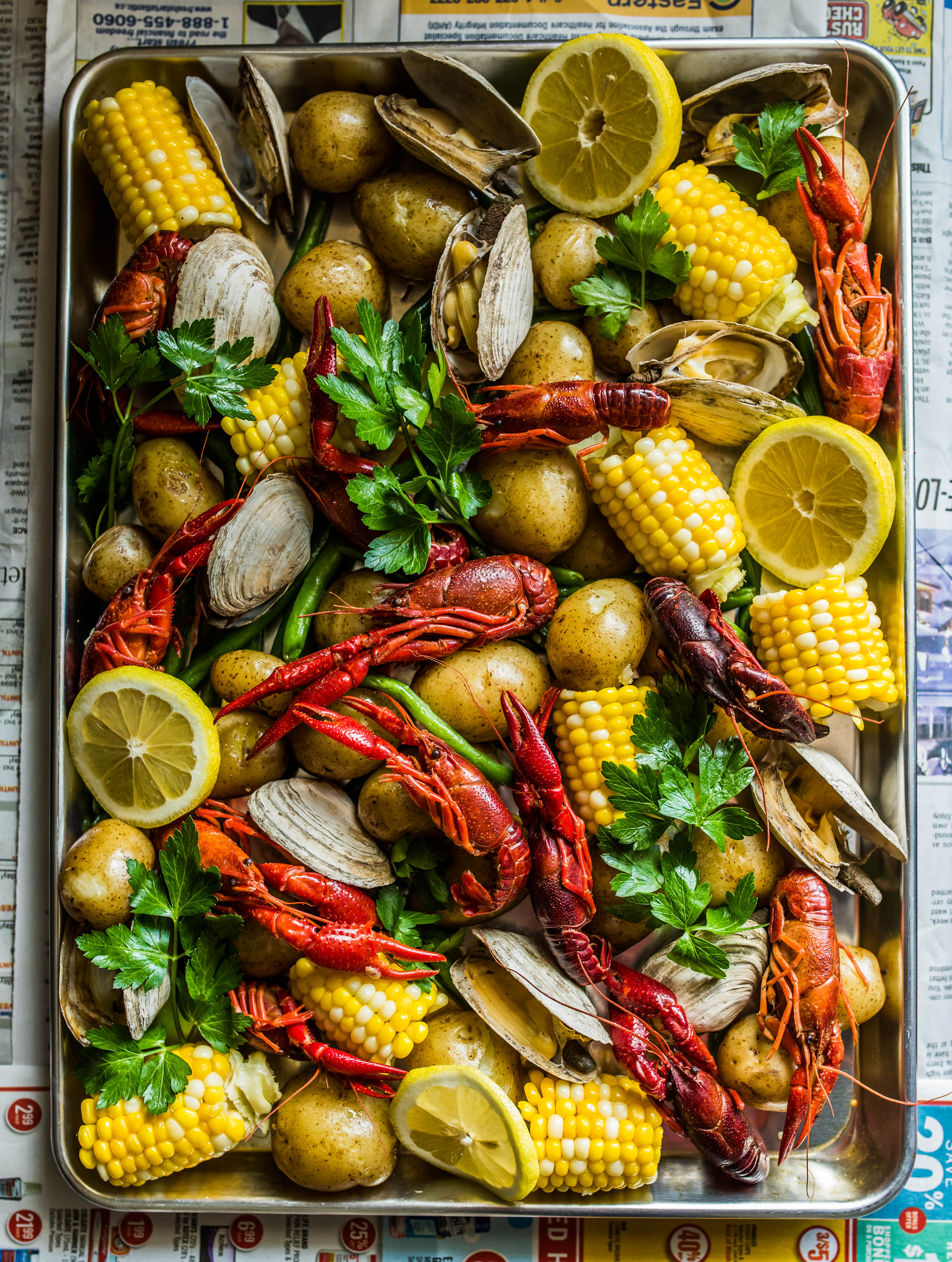 Seafood Boil with Crawfish & Clams | Dennis The Prescott