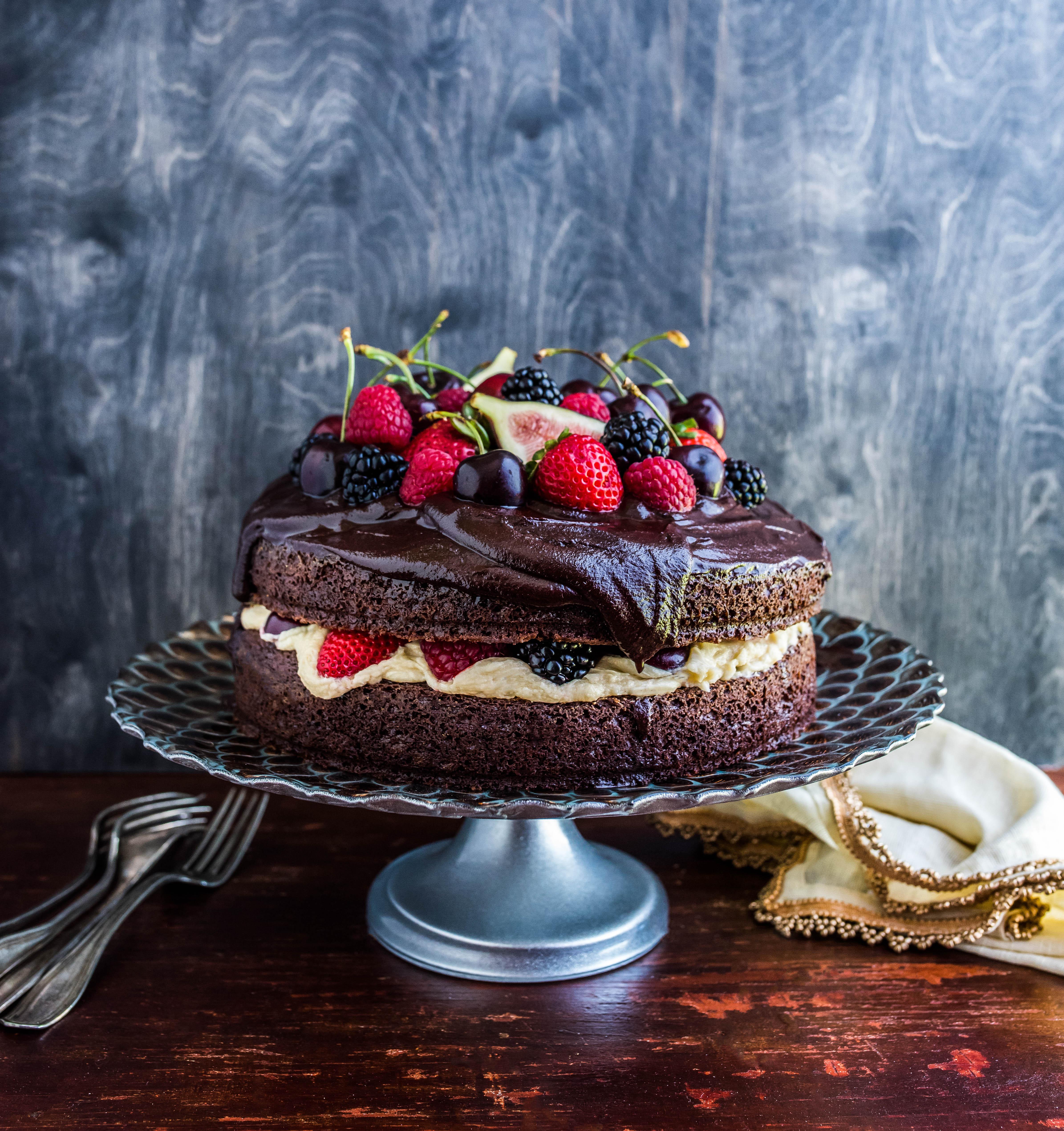 Groovy Chocolate Cherry Baileys Cake Dennis The Prescott Birthday Cards Printable Giouspongecafe Filternl