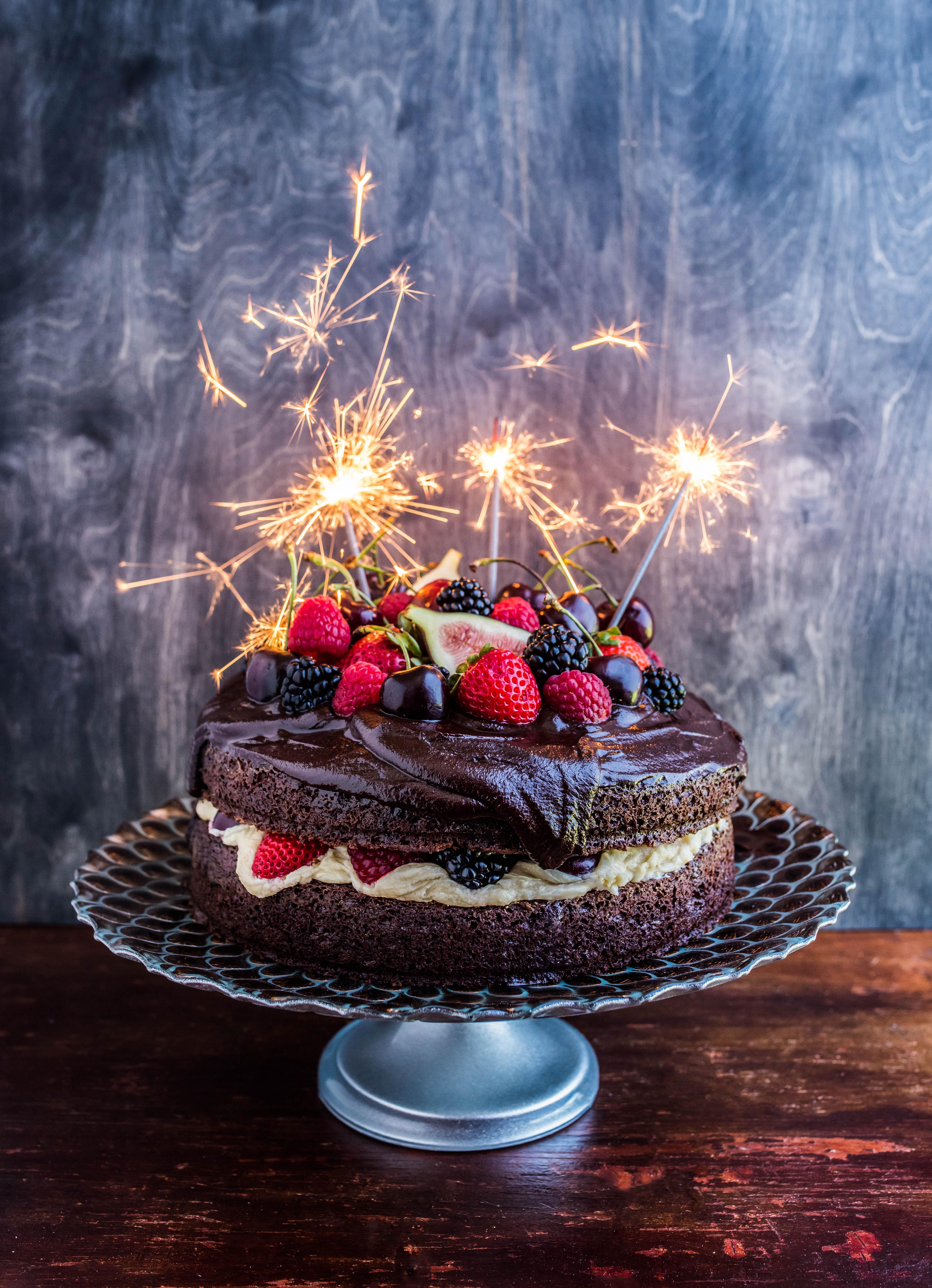 Brilliant Chocolate Cherry Baileys Cake Dennis The Prescott Birthday Cards Printable Giouspongecafe Filternl