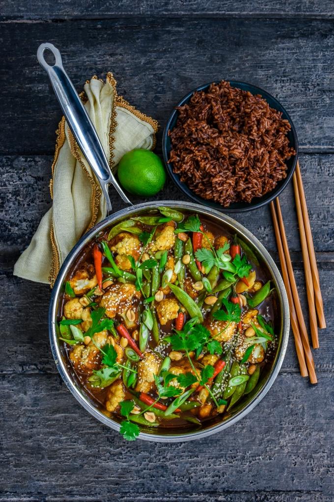 Spicy Garlic Chili Cauliflower StirFry