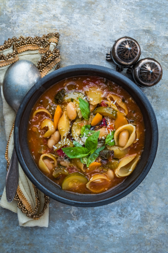 Italian-Vibe Vegetable Soup (The Happy Maker)