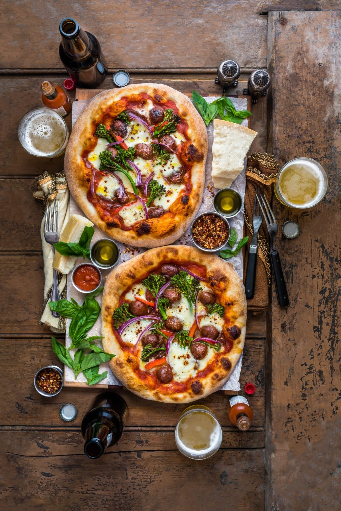 Merguez Sausage & Garlic Broccolini Pizza
