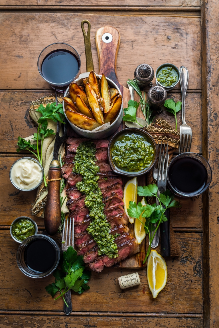 Steak with Spicy Chimichurri