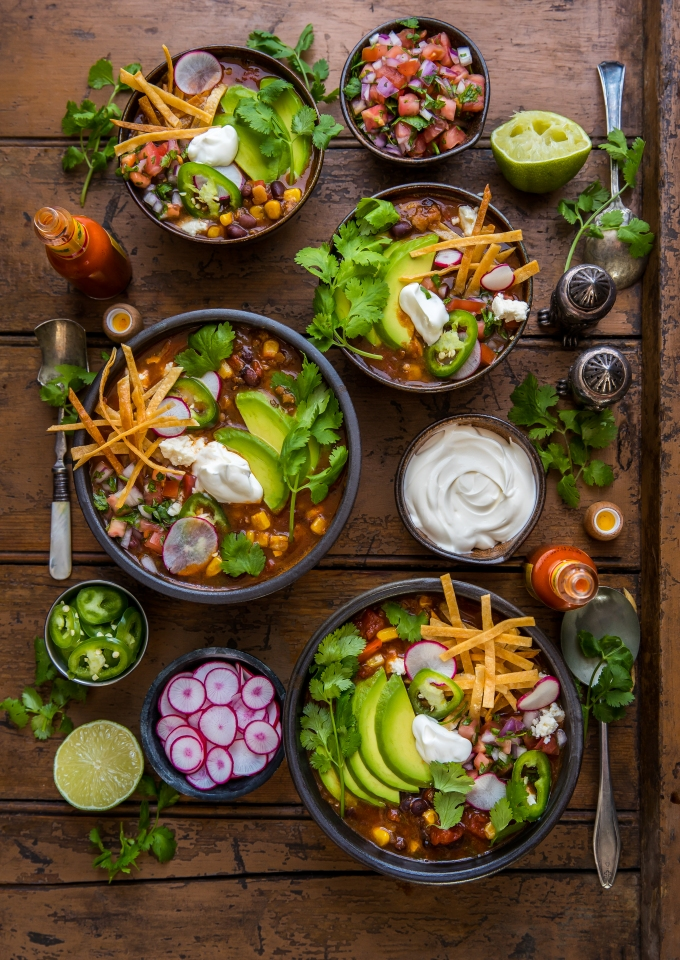 Loaded-Veggie Tortilla Soup