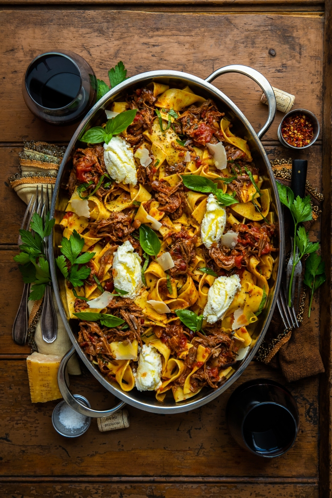 Traeger Braised Beef Pappardelle