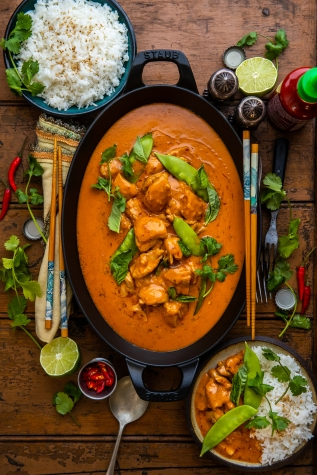 Thai-Style Red ChickenCurry