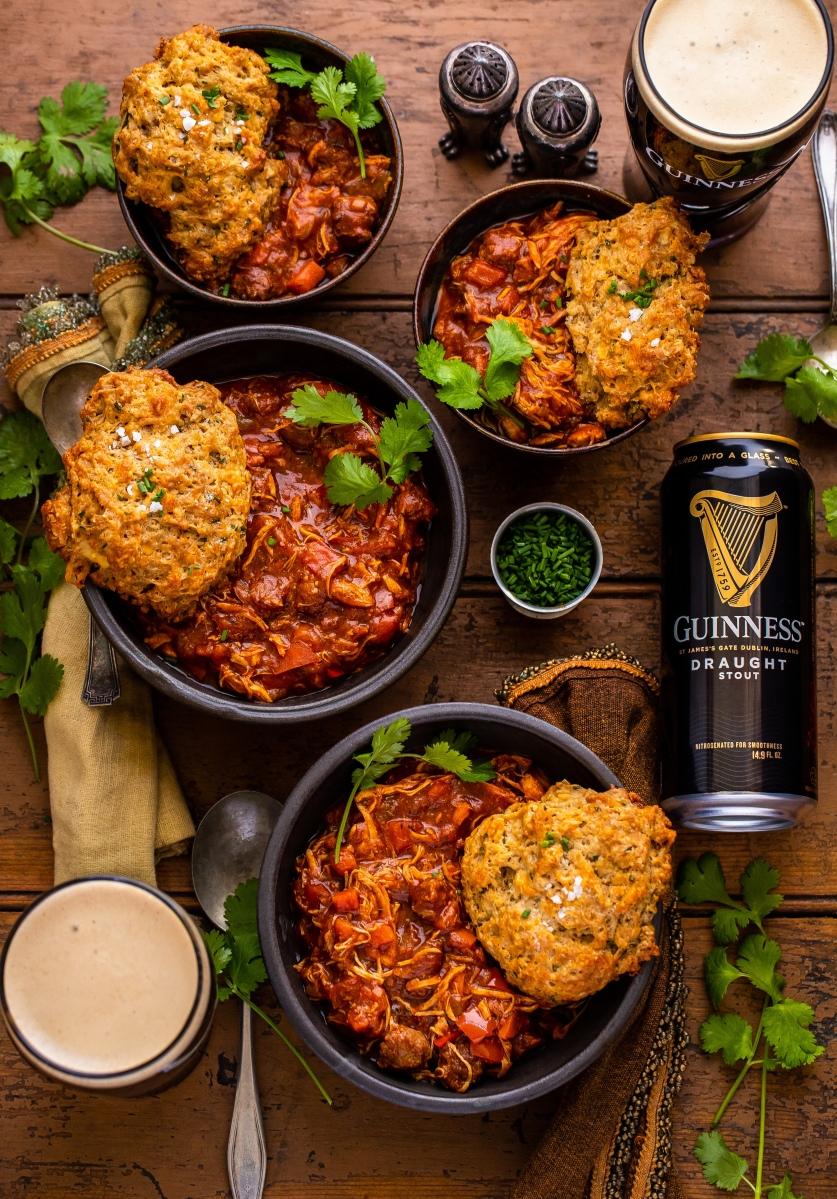 Guinness Braised Spicy Chicken Pot Pie Dennis The Prescott
