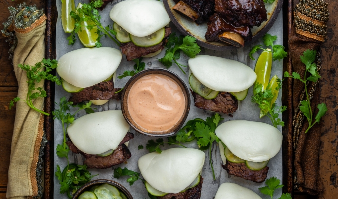 Traeger Smoked Short Rib Steamed Baos